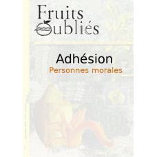 Adhésion personnes morales