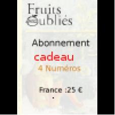 Offrez un abonnement Cadeau pour 4 numéro en France